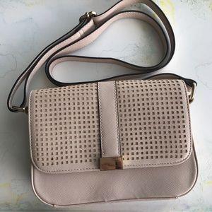 Blush pink cross-body purse